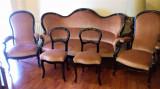 Salon Louis Philippe sec.19, canapea, 2 fotolii, scaune-Franta perfecta stare