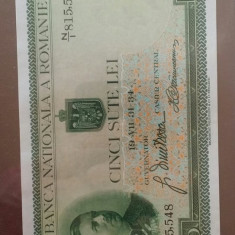 Carol II.....500 lei 1934...... aUNC+....filigran Traian
