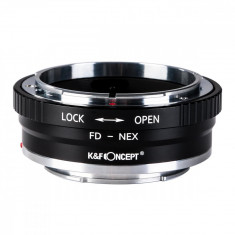 K&F Concept FD-NEX II adaptor montura Canon FD la Sony E-Mount (NEX) KF06.306