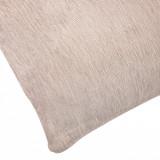 Perna decorativa, model chenille bej, 50×50 cm