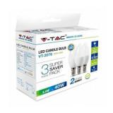 Cumpara ieftin Set 3 becuri LED, soclu E14, 5.5 W, 2700 K, 470 lm, lumina alb calda