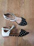 LICHIDARE STOC! Superbe sandale dama noi foarte comode tesut buline+piele 36,5