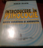 INTRODUCERE IN PSIHOLOGIE MIELU ZLATE