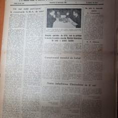 sportul popular 21 februarie 1953-schi,tenis de masa,atletism,fotbal,sah