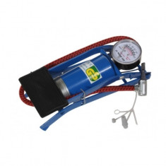 Pompa mica de picior, pentru bicicleta, albastru, YTGT-50145