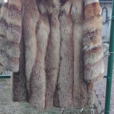 Haina de blana naturala de vulpe