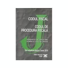 Codul fiscal 2019. Codul de procedura fiscala si Normele de aplicare. Actualizat pana la 1 Iunie 2019 ( OG. nr. 31, 14 Mai 2019)