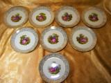 Set 8 farfurii portelan fin fragonard colectie, cadou, vintage