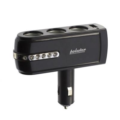 Priza auto Polestar WF-0303, USB, 3 iesiri foto