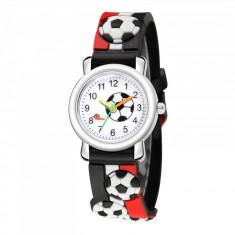 Ceas pentru copii, model minge - fotbal, culoare multicolor, model 1NAR