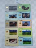 = LOT 455 - TAIWAN - 10 CARTELE TELEFONICE DIFERITE =