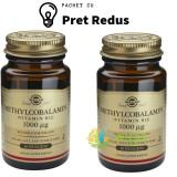 Methylcobalamin (Vitamina B12) 1000mcg 30tb (Metilcobalamina) Sublinguale Pachet 1+1