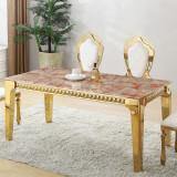 Masa dining din lemn masiv aurit MILANO52830