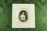 Miniatura portret bust rama fildes interior burghez