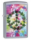 Cumpara ieftin Brichetă Zippo 6687 Marijuana/Pot Leaves-Peace Sign