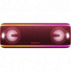 Boxa portabila SRSXB41R, EXTRA BASS, LIVE SOUND, Bluetooth, NFC, Wi-Fi, Wireless Party Chain, Party Booster, Rezistenta la apa, Efect de lumini, Rosu