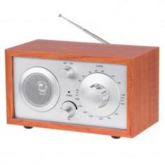 Radio AM/FM Azusa, model lemn, antena telescopica