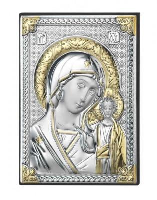 Iconita Argintata Maica Domnului de la Kazan 5x7cm Cod Produs 2689 foto