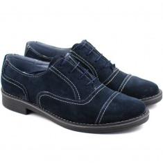 Pantofi barbati casual - eleganti din piele naturala bleumarin - P32BL