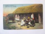 Rară! Ungaria-Stepa/Puszta Hortobagy,masa de seară carte postala circulată 1912, Circulata, Printata