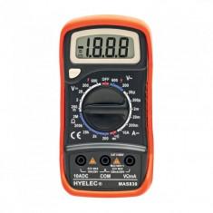 Multimetru digital, 4 functii, 9V, ecran LCD, cablu de masurare, SMA