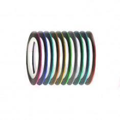 Set de 10 benzi decorative pentru unghii