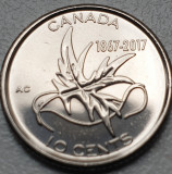10 cents 2017 Canada, Wings of Peace, seria Canada 150, unc, America de Nord