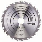 Panza de ferastrau circular Speedline Wood 190x30x2,4mm, 24