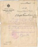 Ordin prefectura Ialomita catre soldat evreu medicinist 1916