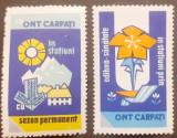 Cumpara ieftin ROMANIA 1965-70, VINIETE DE PROPAGANDA ONT CARPATI mnh, Nestampilat