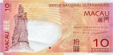MACAU █ bancnota █ 10 Patacas █ 2013 █ P-80c █ BNU █ UNC █ necirculata