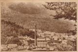 Busteni-Vedere,(sepia),circulata Campina-Busteni (este indoita pe orizontala), Printata