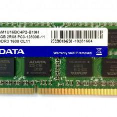 Memorie Laptop Adata 4GB DDR3 PC3-12800S 1600Mhz 1.5V
