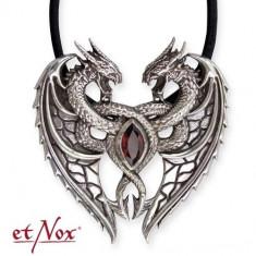 Pandantiv argint Inima de Dragon