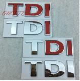 Emblema TDI CROMATA  auto metalica  pentru auto VW adeziv profesional inclus