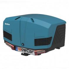 Cutie portbagaj pe carligul de remorcare Towbox V3 Marine Albastru