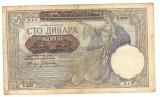 Serbia 1941 - 100 dinara, ocup.germana, uzata