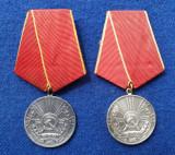 SET 2 buc. Medalia Pentru Merite Deosebite in Munca Decoratie perioada RPR & RSR