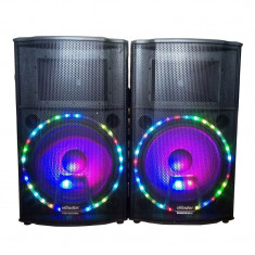Boxe audio Bluetooth 6015, USB, 500 W RMS, suport card SD, amplificator