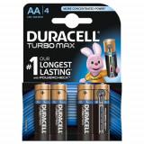 Set 4 Baterii Tip AA Turbo Max Duralock, Duracell