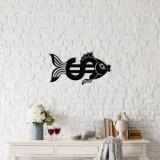 Decoratiune pentru perete, Ocean, metal 100 procente, 49 x 27 cm, 874OCN1034, Negru