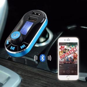Modulator FM si Car Kit Bluetooth si MP3, BG02 Incarcator Auto cu doua porturi USB si Transmitator cu Telecomanda