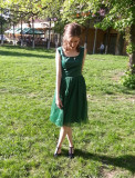 Rochie eleganta - Santana (verde, marimea 36)