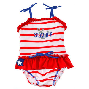 Costum de baie SeaLife red marime XL Swimpy for Your BabyKids