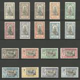 INDIA - ( COLONIE  FRANCEZA )   1914  SERIE  COMPLETA   MH, Nestampilat