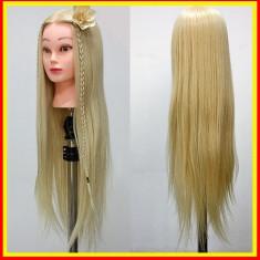 Cap Practica Coafor Manechin Salon Par Blond+ Suport Cap practica