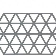 Suport din silicon pentru vase fierbinti Triangles Long Natural, L24xl14 cm, Zone Denmark