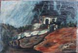 Casa in peisaj - semnat  A.Chabaud