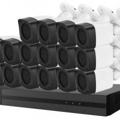 Sistem supraveghere SAFER cu 16 camere de exterior rezolutie 1080p IR 20 metri