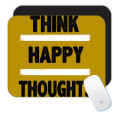Gandeste-te la lucruri pozitive : Cadou Mouse pad : Cotație motivaționala Inspirați, Generic